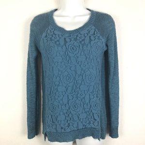 Freshman 1996 Lace Front Sweater Steel Blue